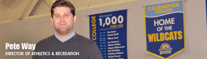 Director of Athletics and Recreation, Pete Way '03