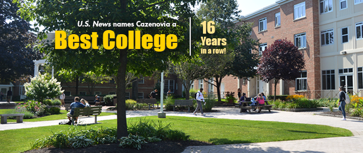 """Cazenovia College Earns 16th Consecutive U.S. News & World Report Recognition as a """"Best College"""""""