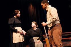 "Scene from Cazenovia College's 2014 Spring Theatre Production ""Crucible"""