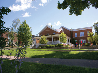 Reisman hall in the summer
