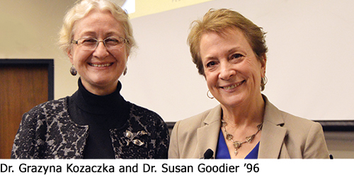 Dr. Grazyna Kozaczka and Dr. Susan Goodier '96