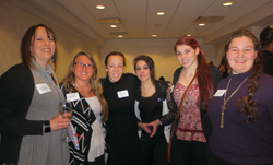 Alumna in NYC with Fashion Students