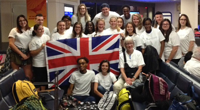 Canterbury Students at Airport Ready for Take-off