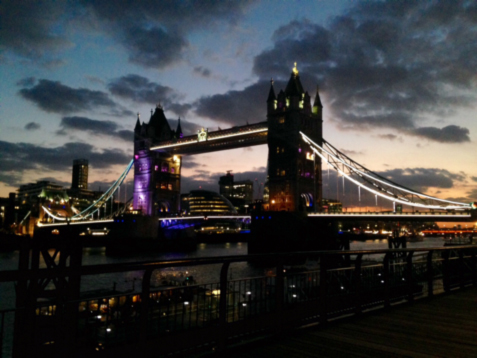 The London Bridge by night