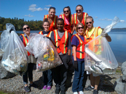 Cazenovia College Students doing community service - Adopt a Highway