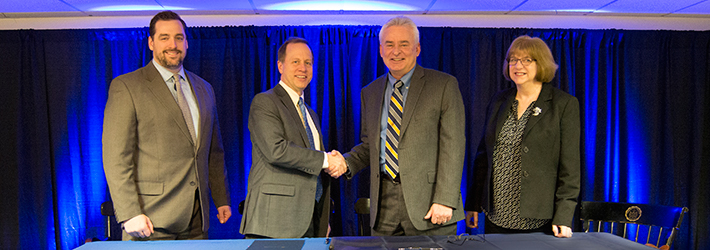 Cazenovia College and Cazenovia High School sign MOU
