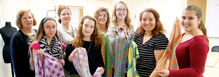 Fashion Design Students Donate Scarves to Silent Auction