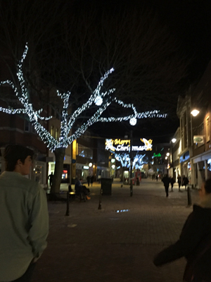 High Street of Canterbury at Christmastime