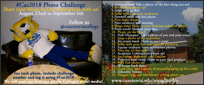 Move-In Day Photo Challenge