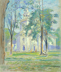 Pastel, Presbyterian Church by Dwight Williams