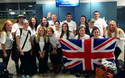 Canterbury study abroad students at the airpot ready for take off