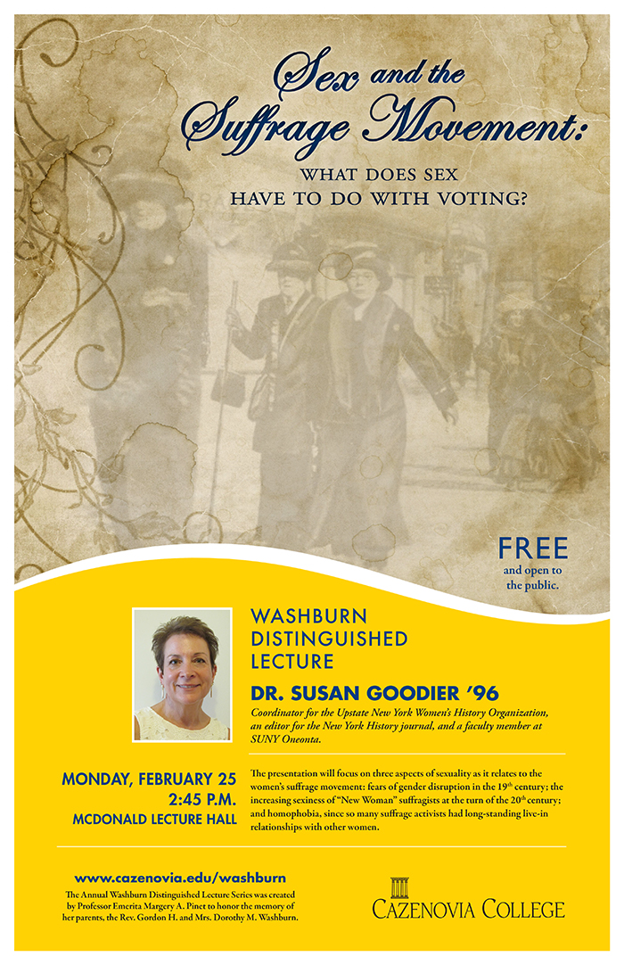 "2019 Washburn Distinguished Lecture: ""Sex and the Suffrage Movement: What Does Sex  Have to Do with Voting?"""