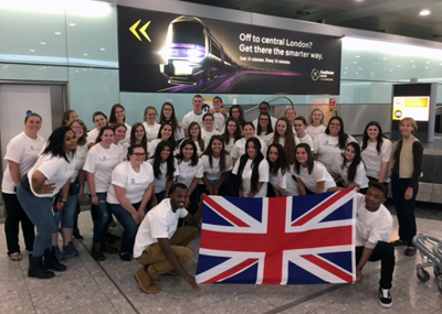 Caz College students arrive in London