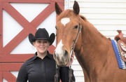 Senior Meghan Marsh rode to the win with a 79 in the Level I Western Horsemanship class.