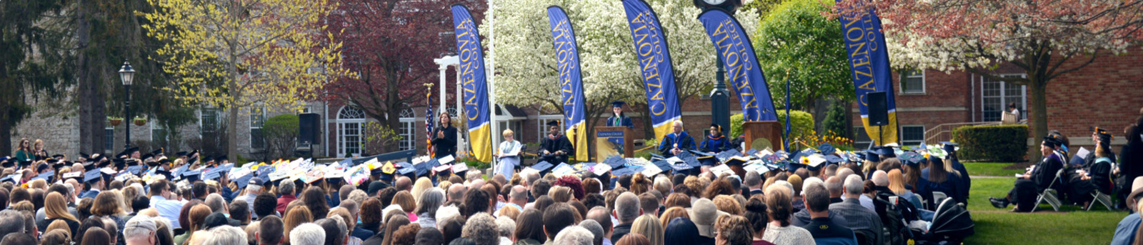 Commencement scene on the Quad