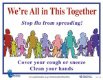 Stop the spread of the flu poster